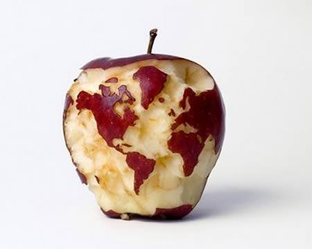 World map carved apple terra incognita sheffield 450 359 in world map carved apple gumiabroncs Images